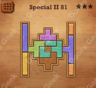 Cheats, Solutions, Walkthrough for Wood Block Puzzle Special II Level 81