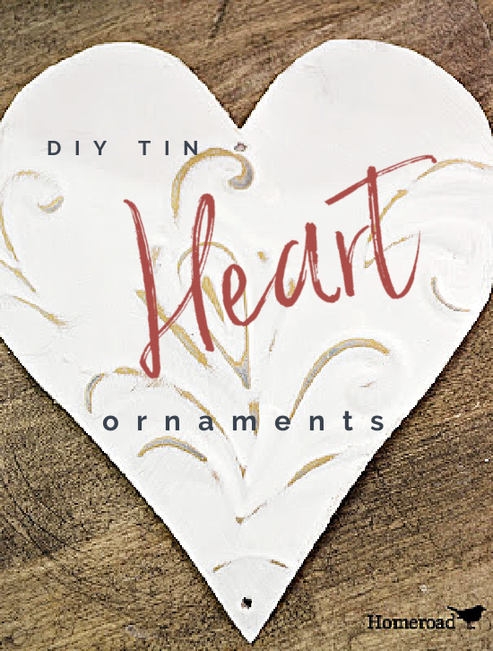 tin heart ornament pin with overlay