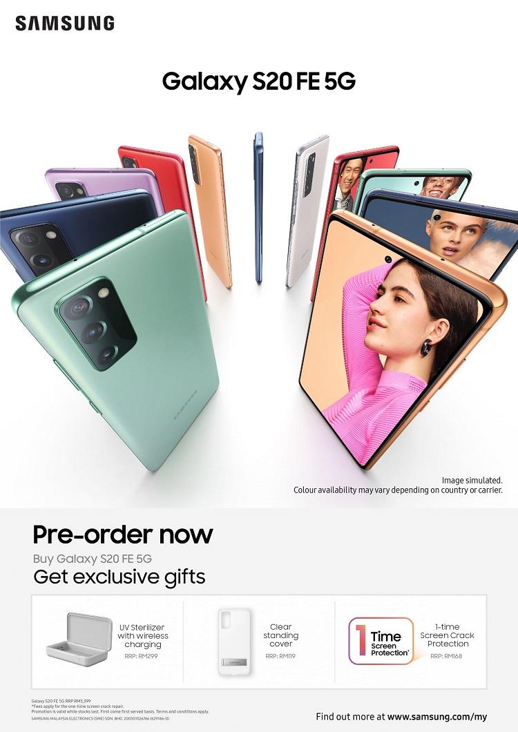 Keluaran Terkini Samsung Galaxy S20 FE 5G Malaysia Guna Snapdragon 865