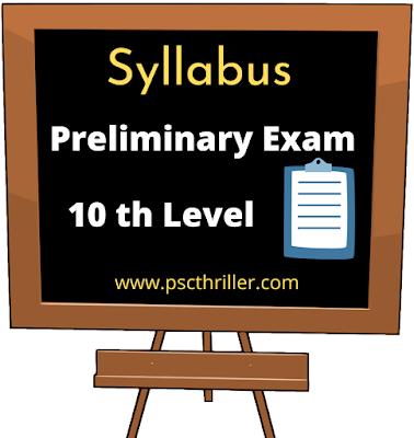 PSC Preliminary Exam Syllabus  - 10th Level