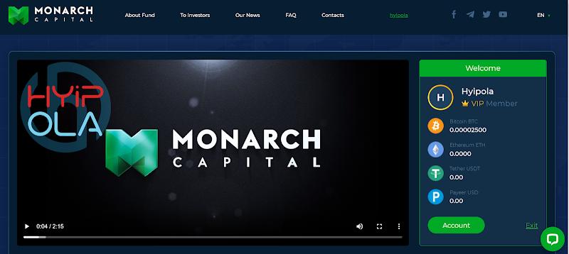[SCAM] Review Monarch Capital - Lãi 3% hằng ngày mãi mãi - Thanh toán tự động