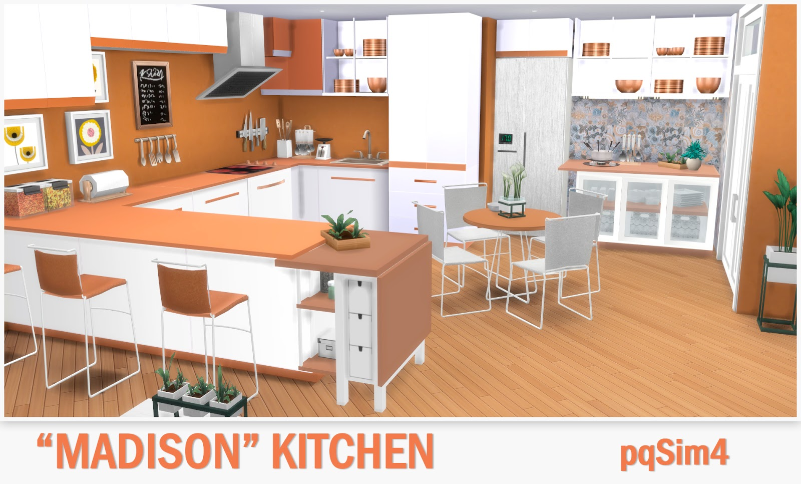 Kitchen madison sims 4 custom content for Muebles para los sims 3