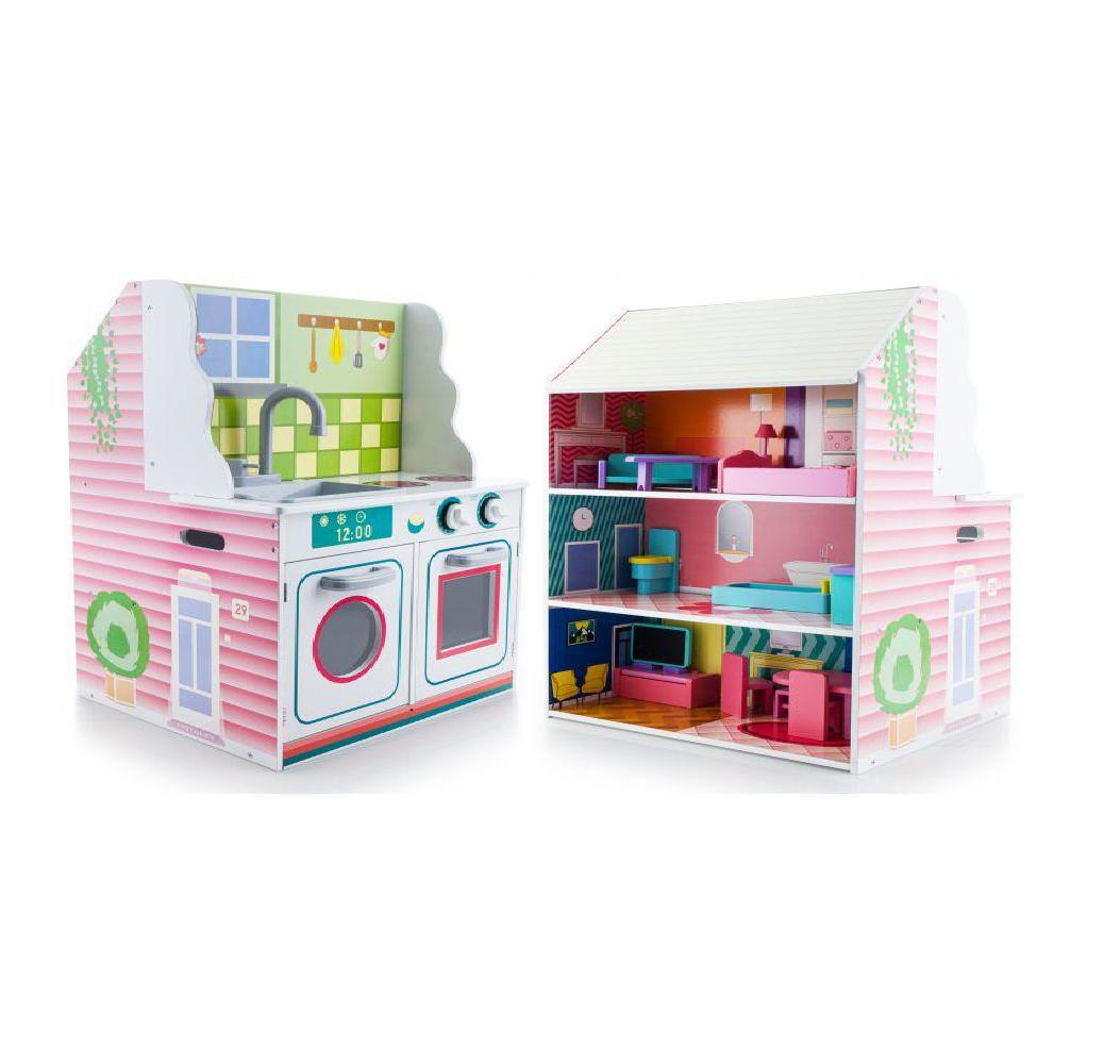2w1 kuchnia dla dzieci i domek dla lalek