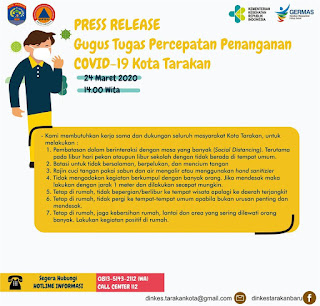 Press Release COVID-19 Tarakan 24 Maret 2020 - Tarakan Info