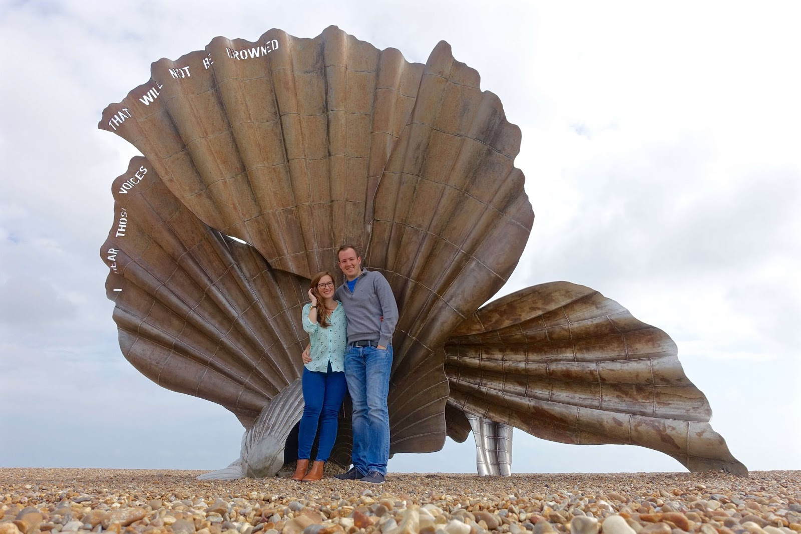 a picture by the scallop in aldeburgh