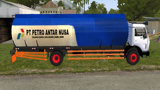 mod bussid truck mercedes tangki