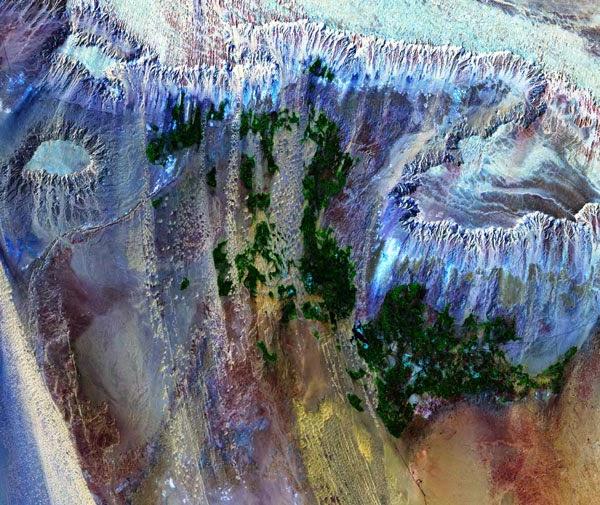 Foto Satélite NASA LANDSAT Oasis de Dakhla