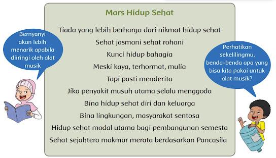 Mars Hidup Sehat, Kelas 5 Tema 3