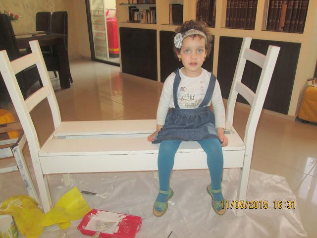 IMG 0389 - בניית ספסל משני כיסאות