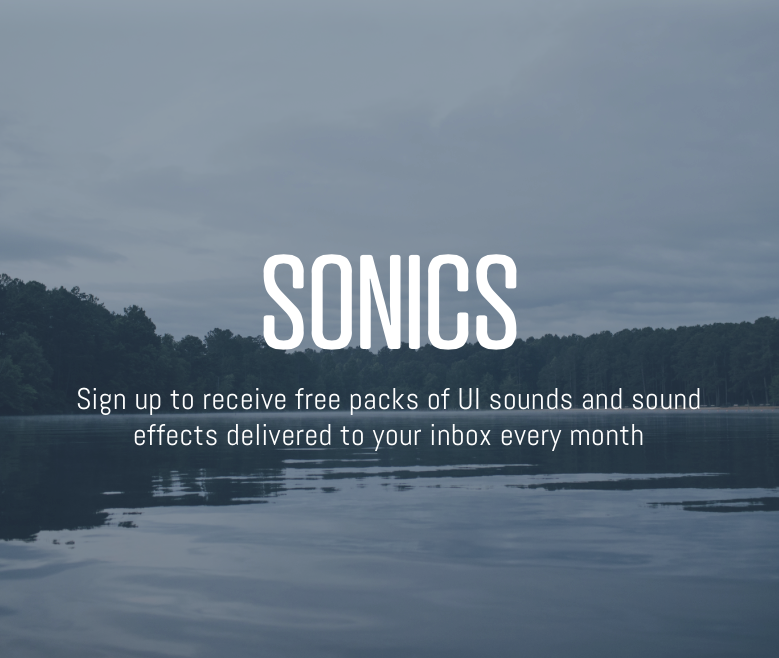 Get your free monthly pack of Sound UI from Sonics.io
