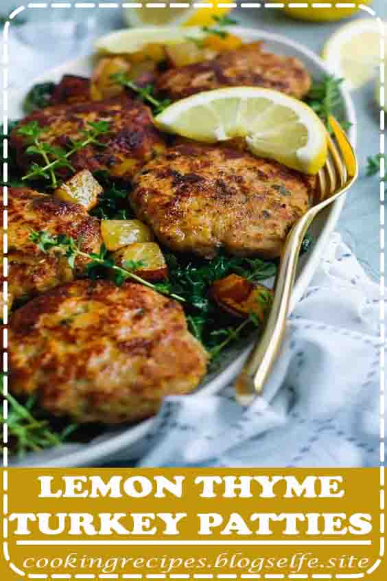 4.7 ★★★★★ | Lemon Thyme Turkey Patties are your easiest and most flavorful weeknight meal. They use inexpensive ground turkey, but with the help of a few flavorful ingredients, this easy recipe is both healthy and delicious. Dinner is ready in about 30 minutes! Serve alone, on a salad, or as turkey burgers! #healthy #dinner #recipes #for family #beef #ground turkey