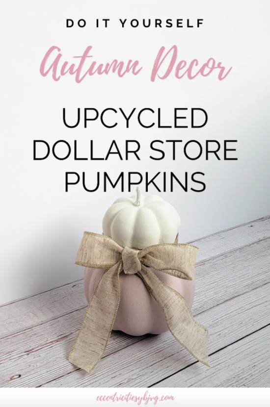 DIY Dollar Store Pumpkin Decor