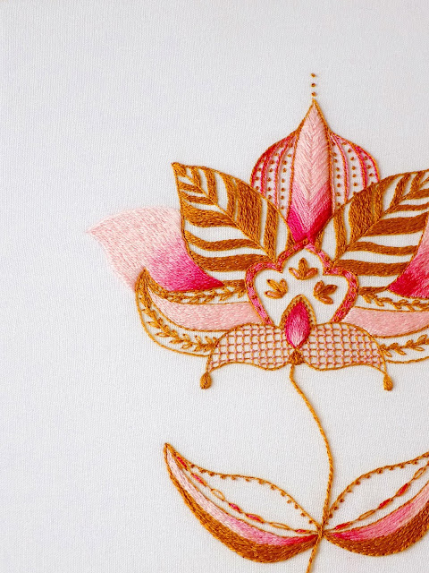 henna style embroidery