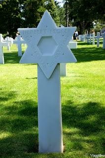 Particolare di una delle tombe ebree al Cimitero Americano