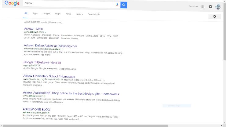 askew google trick