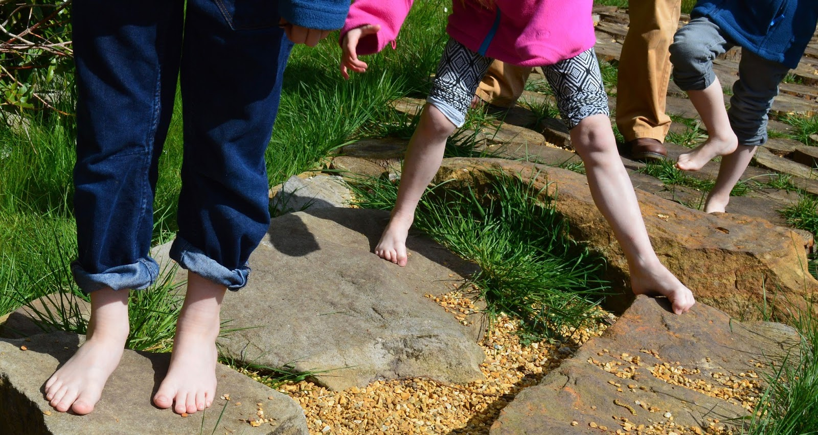 The Labyrinth at Cragside - barefoot walk