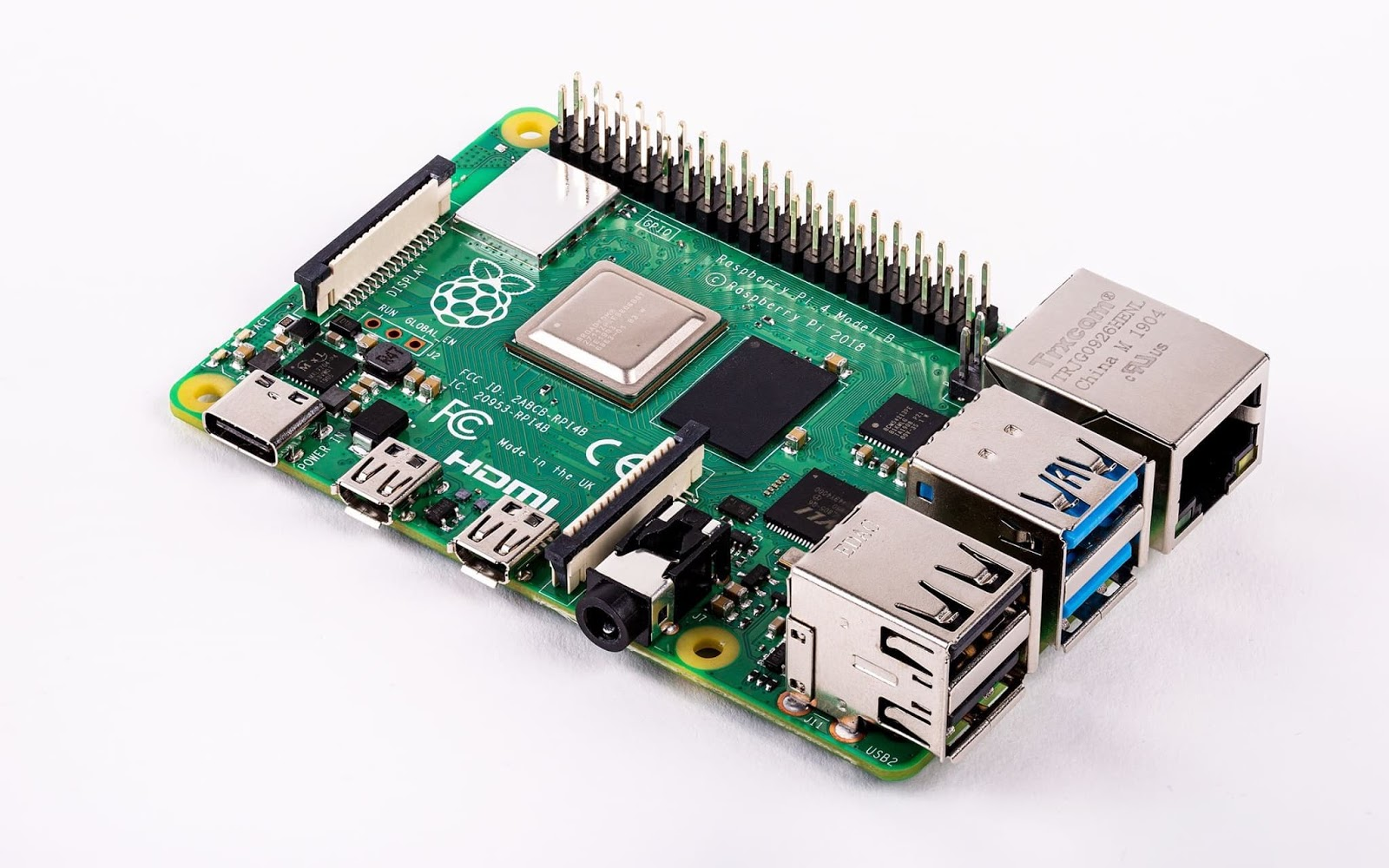 The New Raspberry Pi 4 B (Up to 4GB RAM, 2x HDMI 4K/60, 2x USB3 0