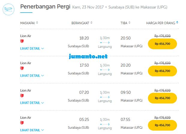 harrga tiket pesawat surabaya makassar