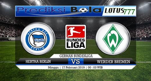 Prediksi Hertha Berlin vs Werder Bremen 17 Februari 2019