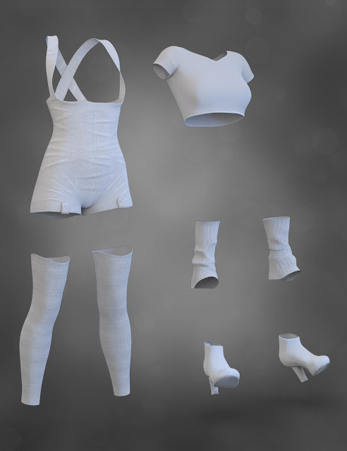 X-Fashion Overall Outfit for Genesis 8 Female