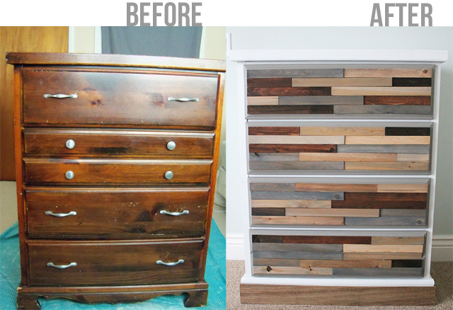 DIY Wood Shim Dresser