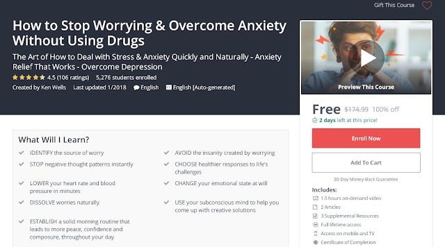 How to Stop Worrying & Overcome Anxiety Without Using Drugs