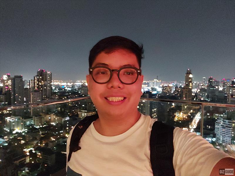 Reddish low light selfie