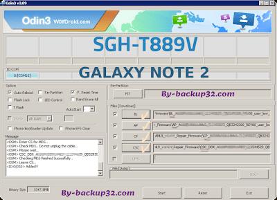سوفت وير هاتف GALAXY NOTE 2 موديل SGH-T889V روم الاصلاح 4 ملفات تحميل مباشر