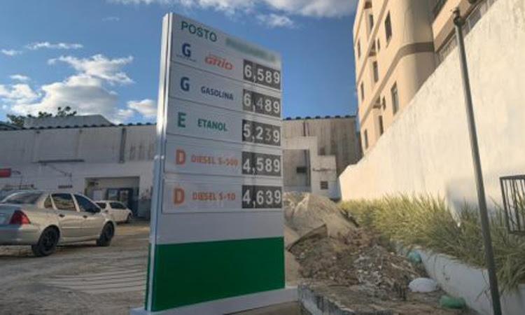 Gasolina chega a R$6,51 em Vitória da Conquista