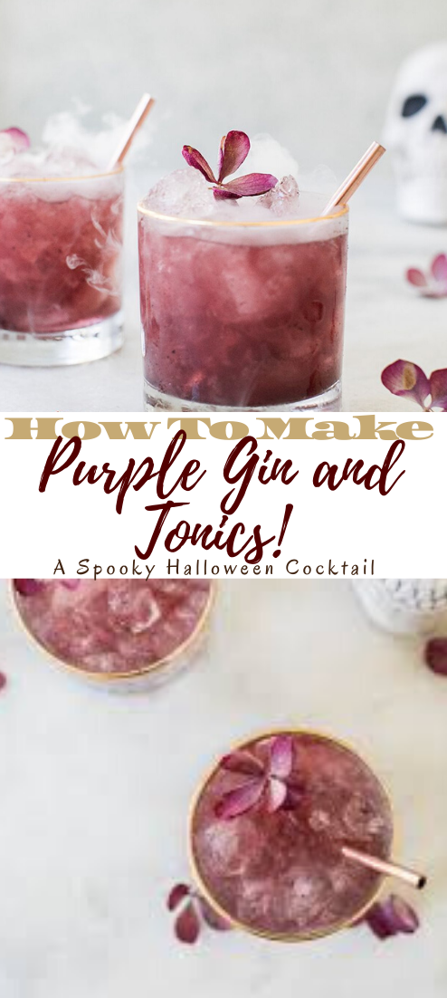 Purple Gin and Tonics! A Spooky Halloween Cocktail #healthydrink #drinkrecipe #smoothiehealthy #cocktail