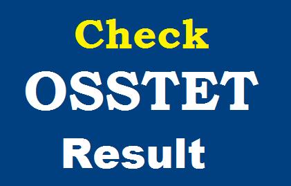 BSE Odisha OSSTET Result 2019