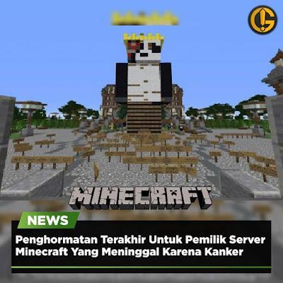 Pemilik Server Minecraft Meninggal Dunia