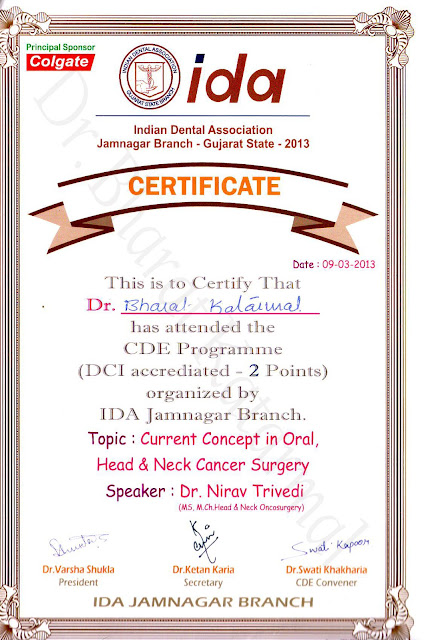 Current Concept in Oral Head and Neck Cancer Surgery by Dr Nirav Trivedi