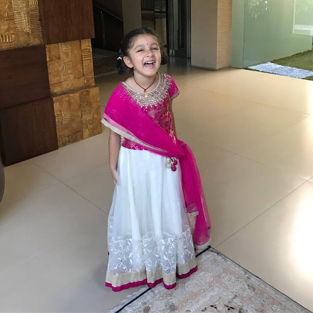 Mahesh Babu Daughter Sitara White Ghagra