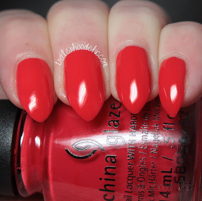 china glaze lite brites collection swatch hot flash