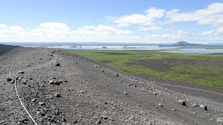 View from the top of Hverfjall