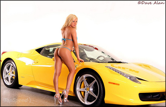 girls and Ferrari cars nude