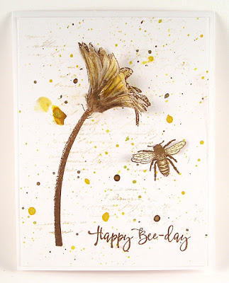 Darkroom Door Buzzing Bees Rubber Stamp Set