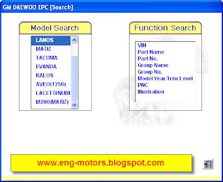 Daewoo EPC (electronic parts Catalog)
