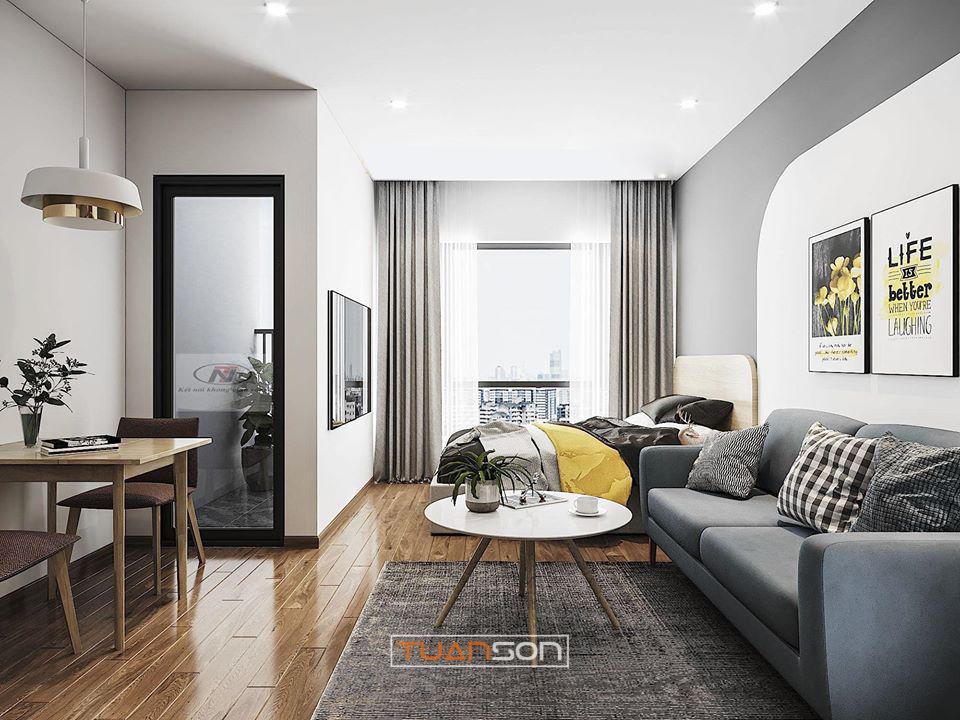 Thiết Kế Nội Thất: Căn hộ Studio Vinhomes Smart City