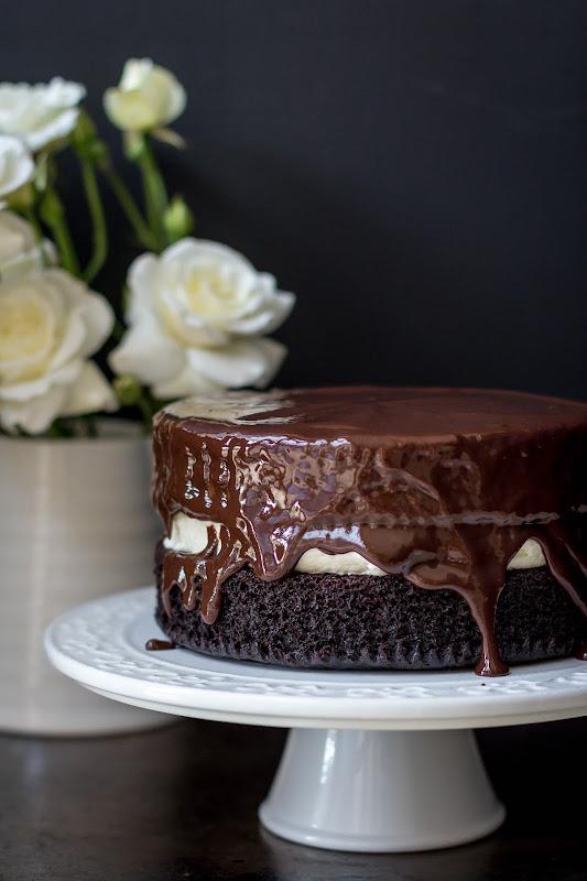 Milk And Honey Rich Chocolate Cake With Creamy Vanilla