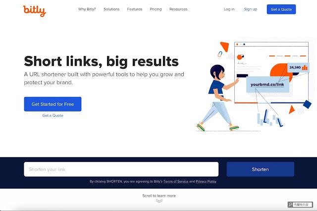 【行銷手札】短網址服務推薦,縮短網址、流量分析一次搞定 - Bitly 提供不錯的便利度和功能,是目前短網址服務的指標