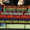 Sejumlah Karangan Bunga Beri Ucapan Dukungan Pada Pemerintah Telah Bubarkan FPI