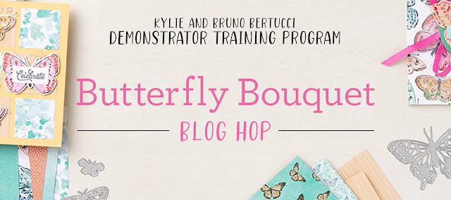 Bruno and Kylie's Demo Training Butterfly Bouquet Blog Hop Banner | Nature's INKspirations by Angie McKenzie