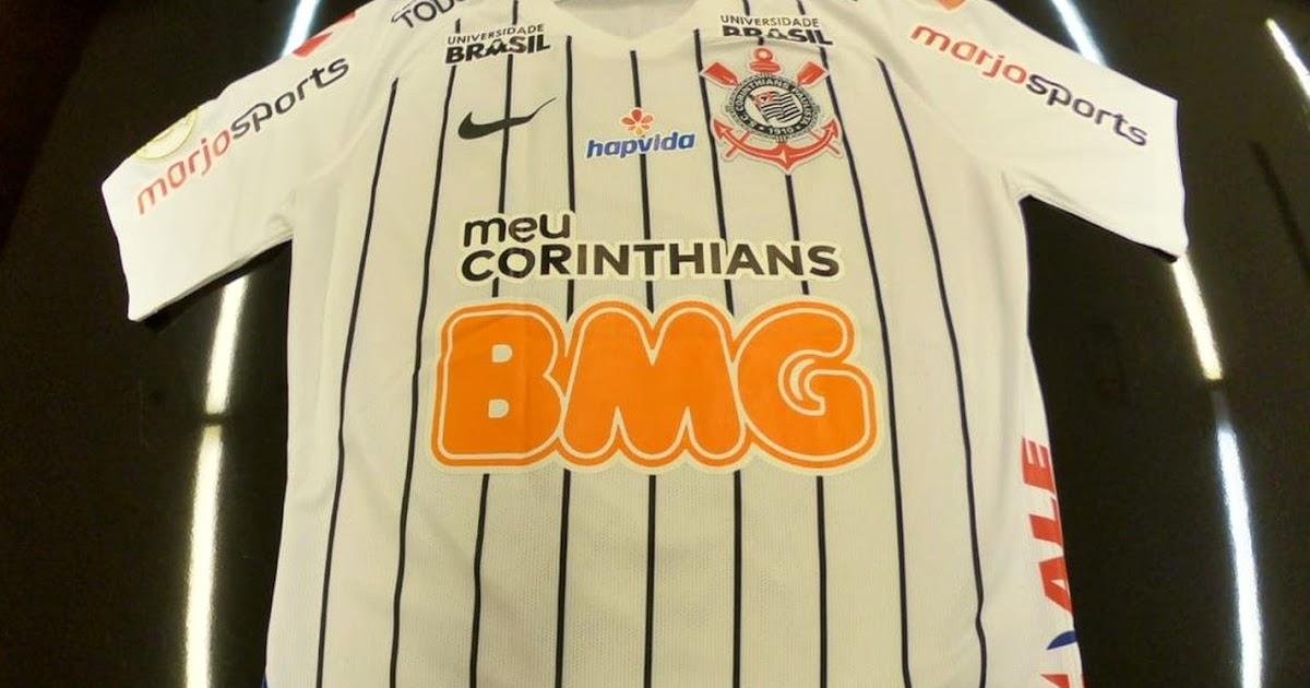 ce2814cfee Corinthians chega a dez patrocínios e mais de 20 estampas no uniforme -  Show de Camisas
