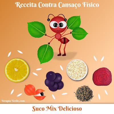Receita Contra Cansaço Físico: Suco Mix Delicioso