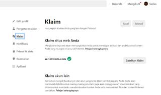 Cara Mendaftar, Claim dan Verifikasi Blog di Aplikasi Pinterest Untuk Meningkatkan Visitor