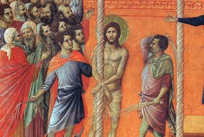 flagelacion azote latigo medieval duccio siena