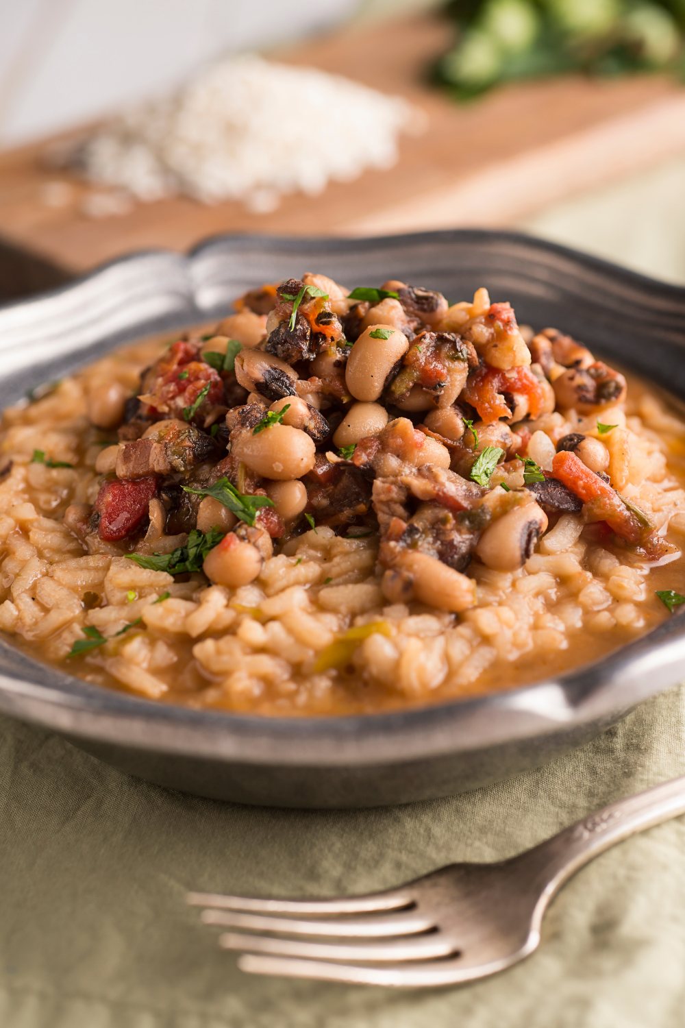 Spicy Black-Eyed Peas and Rice For New Year's