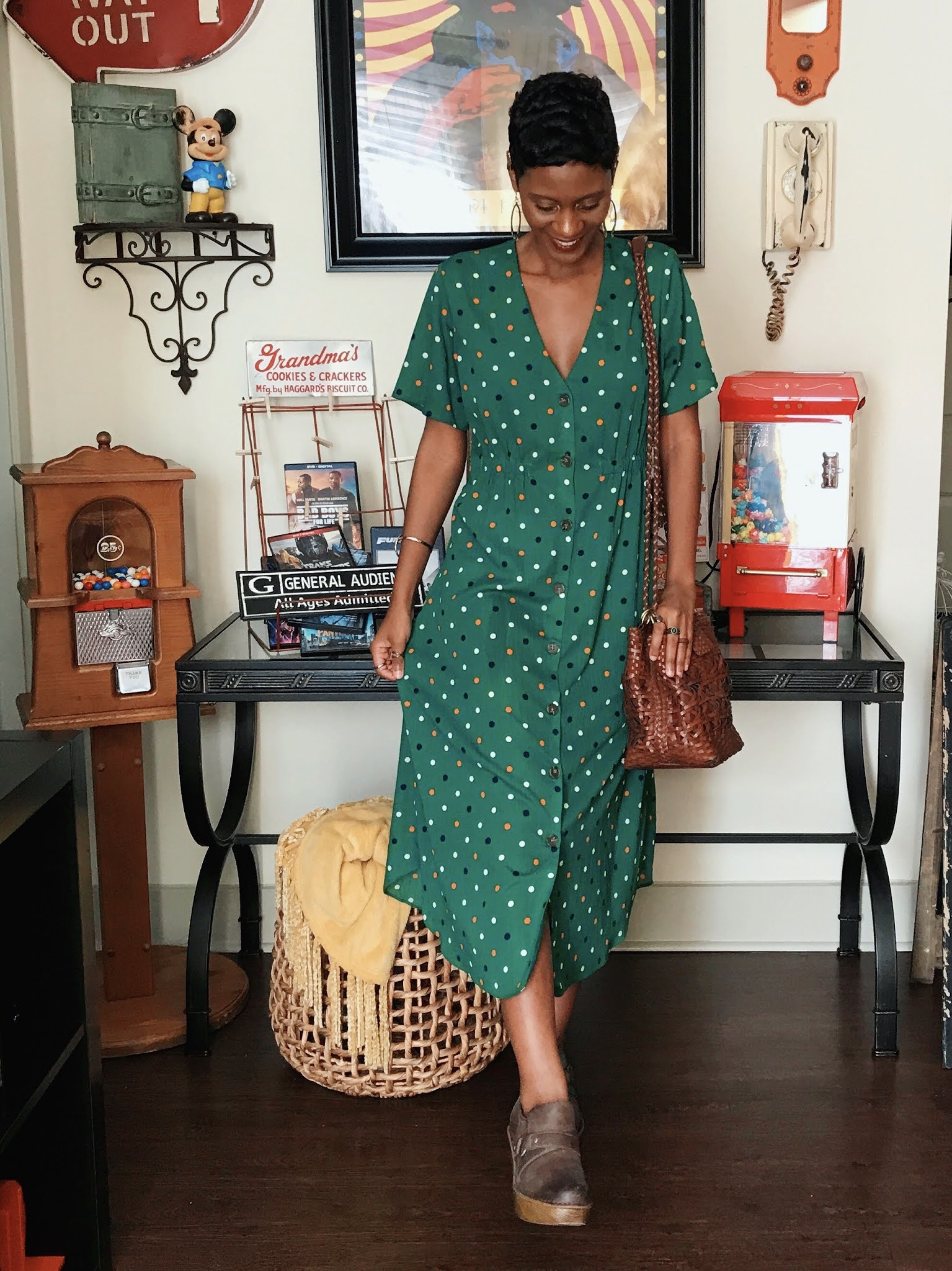Green Polka Dots And Thrifted Finds